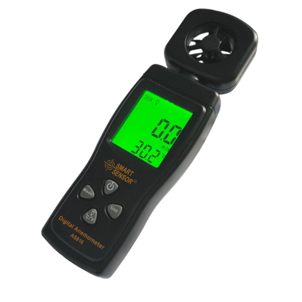 เครื่องวัดความเร็วลม และอุณหภูมิ (AS816)