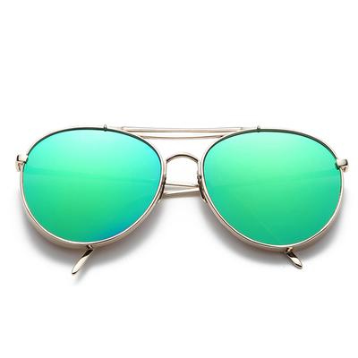 แว่นตา ฮาราจูกุ (Harajuku) เลนส์ปรอท สีเขียว กรอบสีิเงิน (UV400)