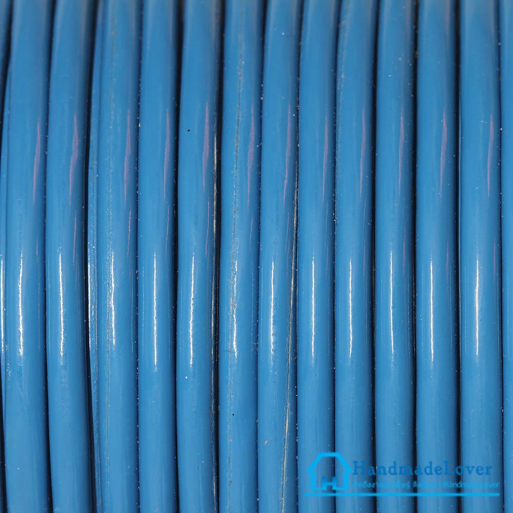 เชือกพีวีซี PVC สีฟ้า ขนาด 5 mm.