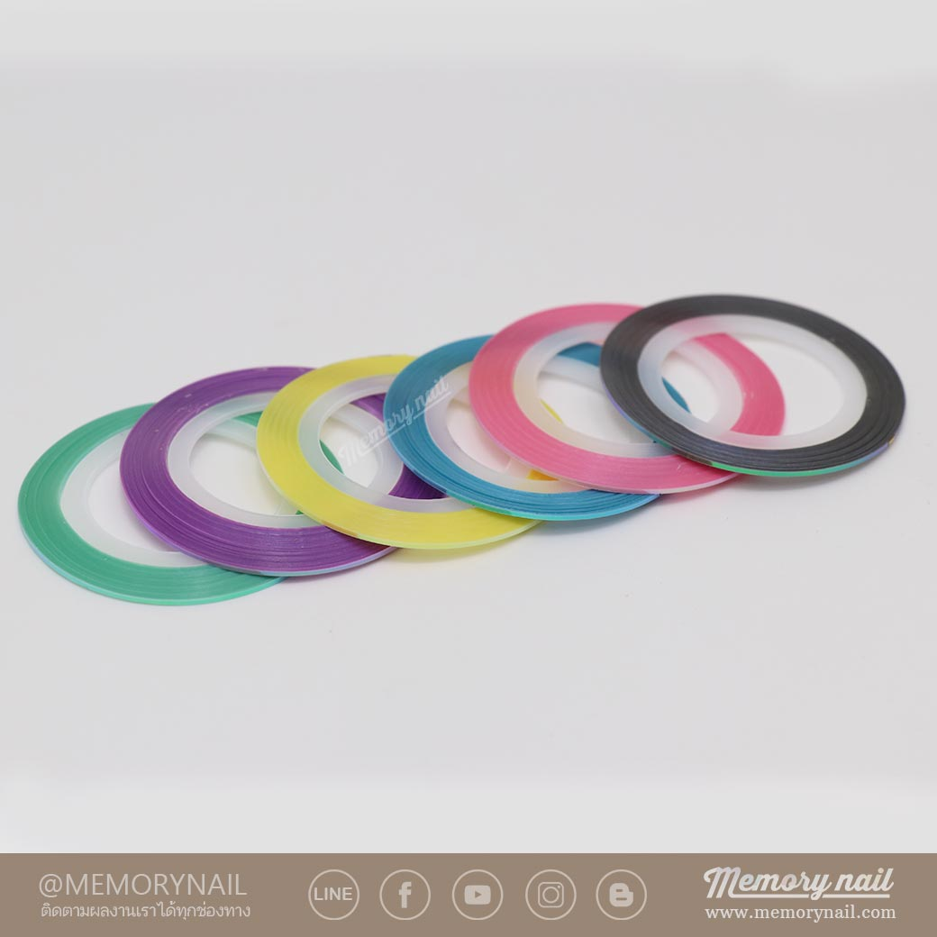 ดิ้น 1 มิล สีเหลือบรุ้ง คละ 6 สี