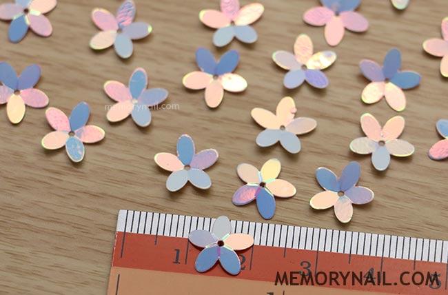 ดอกไม้พลาสติก แบบแผ่นหนา แยกซอง เลือกสีใน