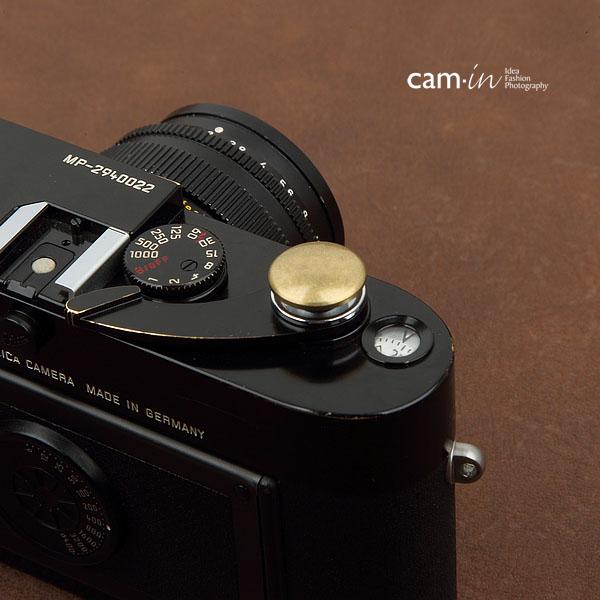 Soft Shutter Release รุ่น 16 mm ปุ่มใหญ่ นูนขึ้น สีทอง สำหรับ Fuji XT2 XE2 X20 X100 XE1 XT20 XT10 Leica ฯลฯ