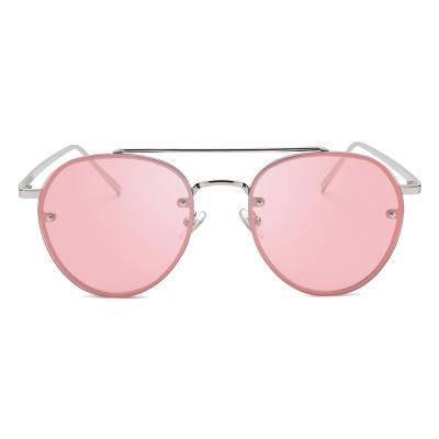 แว่นตา ฮาราจูกุ (Harajuku) สีชมพู กรอบสีทอง (UV400)
