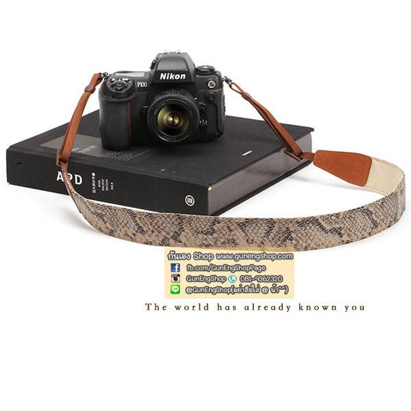 สายคล้องกล้องลายเท่ๆ cam-in Snake Skin
