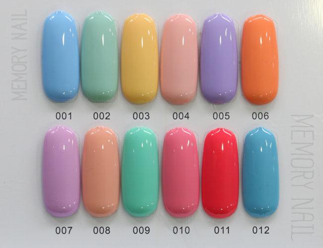 สีทาเล็บเจล EN.OU ยกเซ็ต 12ขวด คละสี LUXURY MACARONS