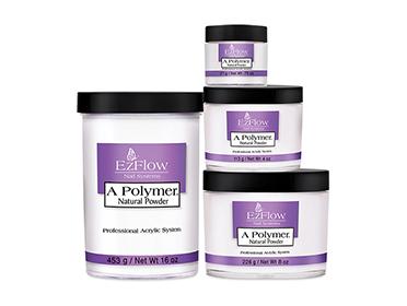 ผงต่อเล็บอะคริลิค Ezflow สีธรรมชาติ A Polymer Powders Natural