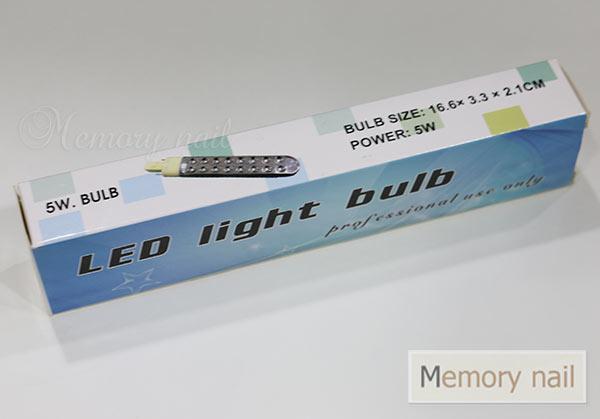 หลอดไฟ LED,หลอดไฟเครื่องอบเจล,หลอดไฟ LED สีเจล,หลอด LED