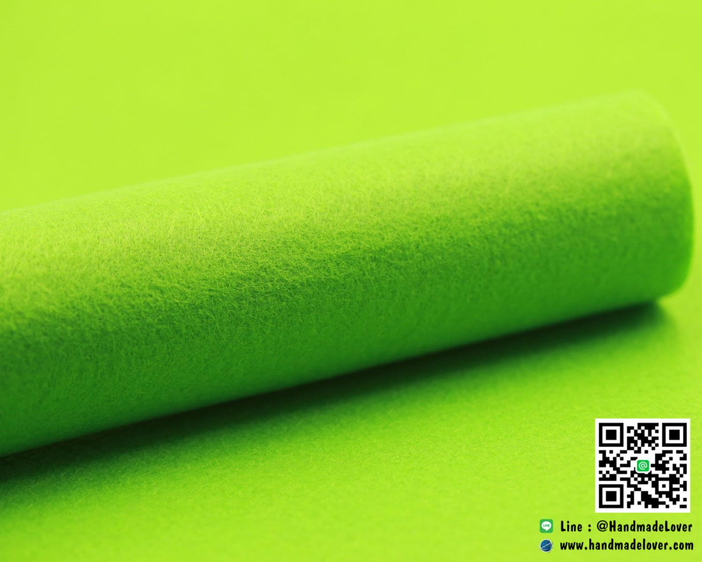 ผ้าสักหลาด สีพื้น สีเขียวอ่อน