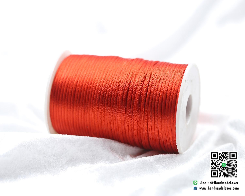 เชือกหางหนู ขนาด 2 มิล สีแดง ม้วน 100 หลา