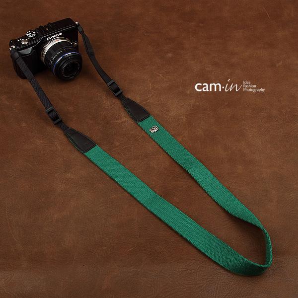 สายคล้องกล้องแฟชั่นเกาหลีเส้นเล็ก Cam-in รุ่น Slim สีเขียว 25 mm
