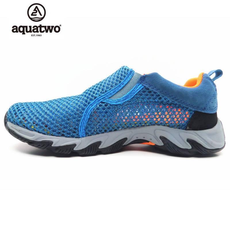 รองเท้าลุยน้ำ รองเท้าตาข่าย Aquatwo 957N สีฟ้า