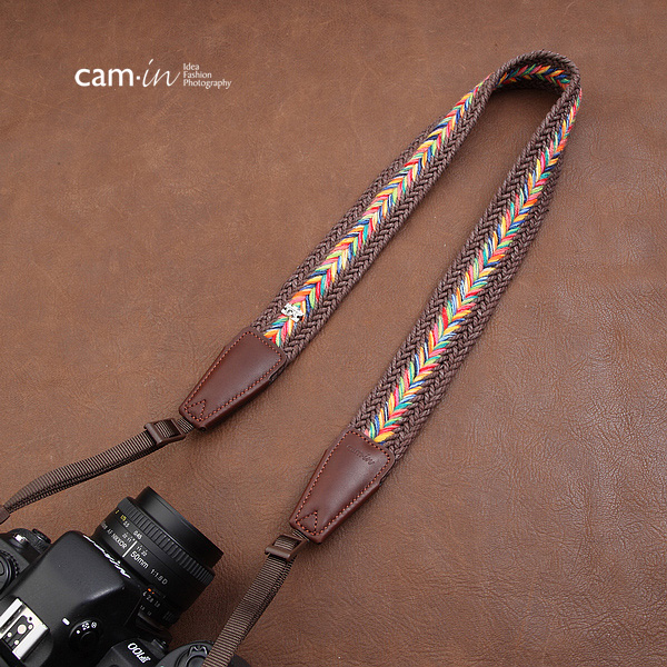 สายคล้องกล้องสวยๆ สีสดใส cam-in Glory Pony Dark Brown