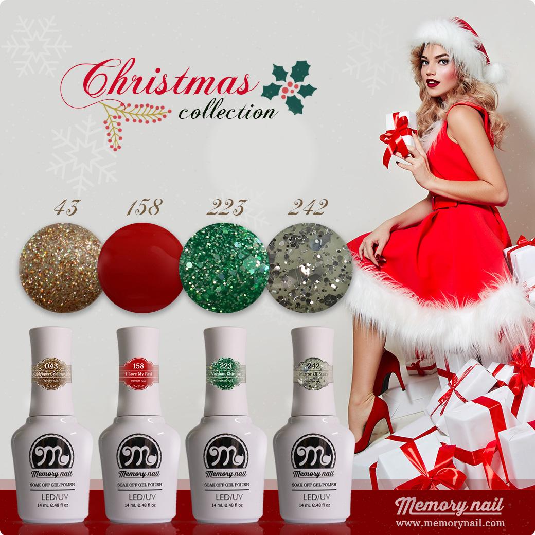 สีเจล MEMORY NAIL เซ็ตคริสต์มาส CM-01 Christmas Collection