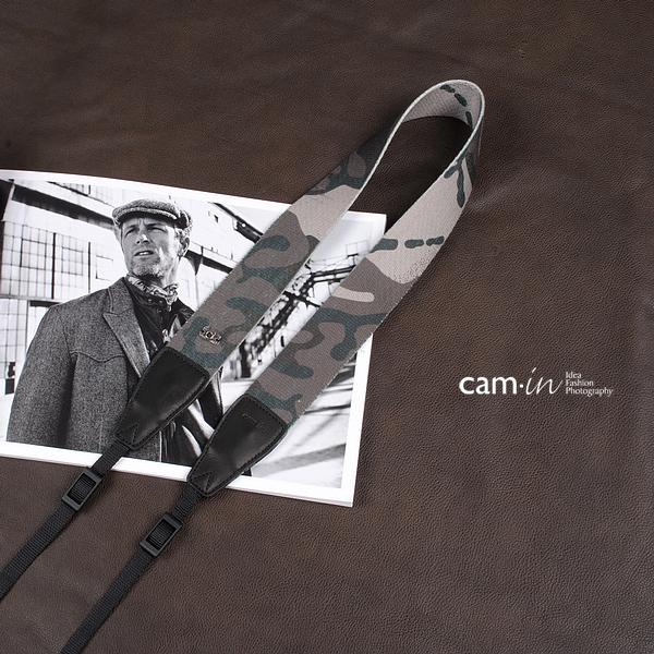 สายคล้องกล้อง cam-in ลายทหารพราง Camouflage