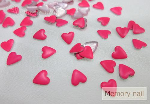 หมุดติดเล็บ รูปหัวใจ เลือกสีด้านใน