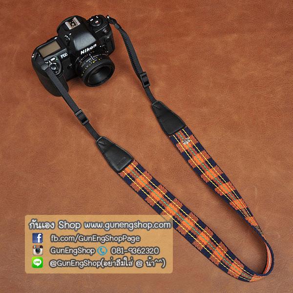 สายกล้องคล้องคอลายสวยๆ cam-in Scott Orange