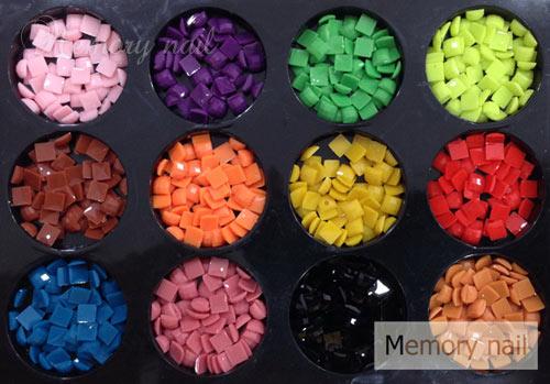 หมุดพลาสติก สีเหลี่ยม 3 มิล ชุดใหญ่ คละสี