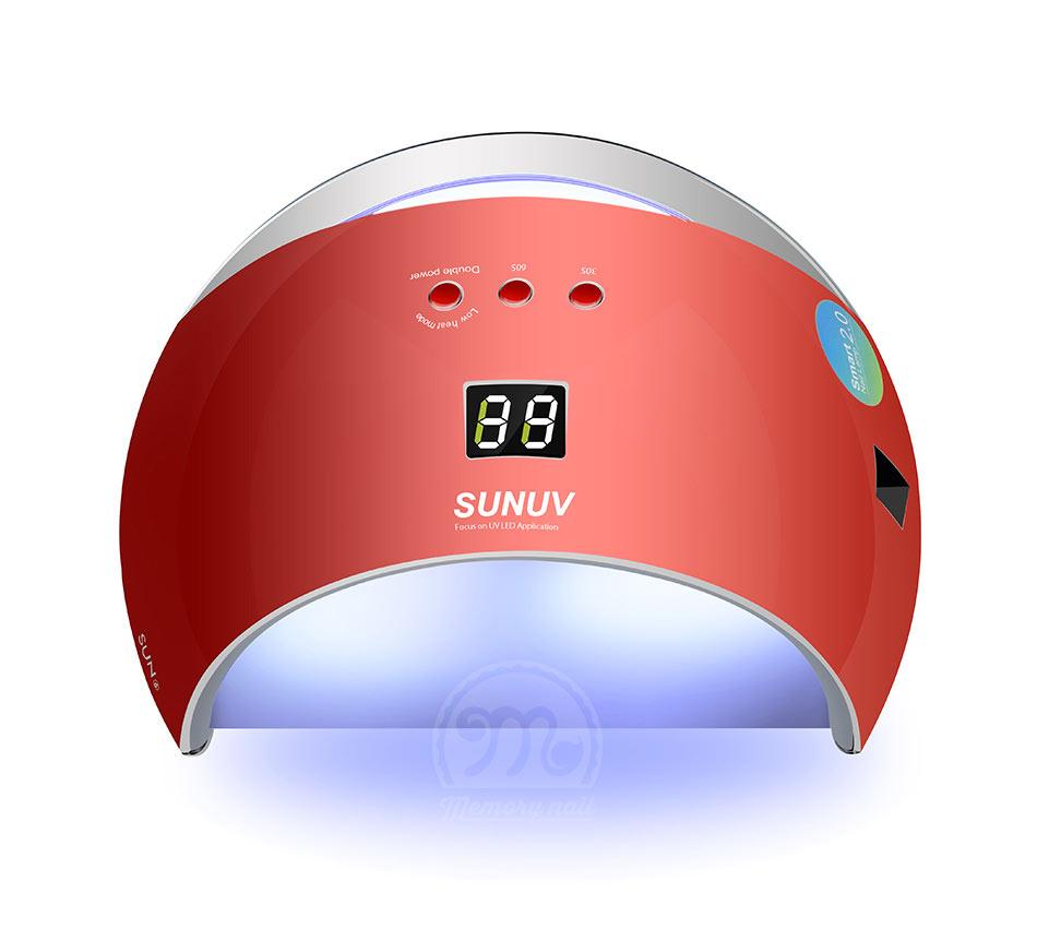 เครื่องอบเจล LED SUN 6 สีแดงอมส้ม LED lamp 48 วัตถ์