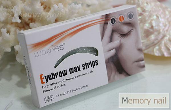 แผ่นแว็กซ์ขน คิ้ว พร้อมใช้ (Strip wax) แบรนด์ WAXKISS