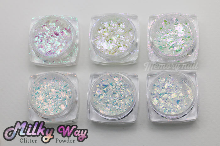 Milky Way glitter powder,Milky Way,glitter powder,ผงเกร็ดทางช้างเผือก,ผงติดเล็บ,ผงแต่งเล็บ,กากเพชร,กากเพชรติดเล็บ