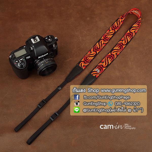 สายกล้องคล้องคอ cam-in Flame