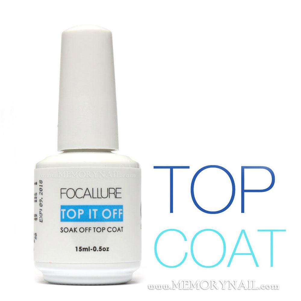Focallure Top coat gel สีทาเล็บเจล สำหรับเคลือบใส