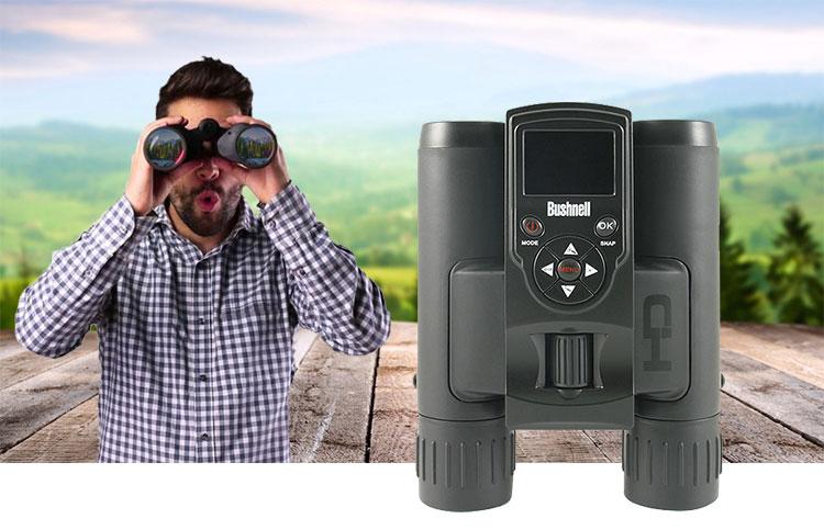 กล้องส่องทางไกล VDO recorder สองตา bushnell 8X