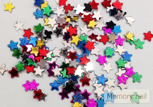 กากเพชรรูปดาว คละสี