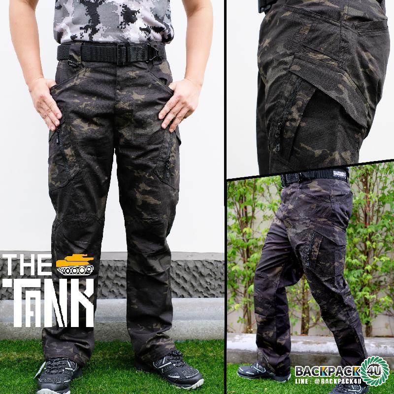 กางเกงยุทธวิธี รุ่น ix9c (เคลือบกันน้ำ) ลายพรางดำ
