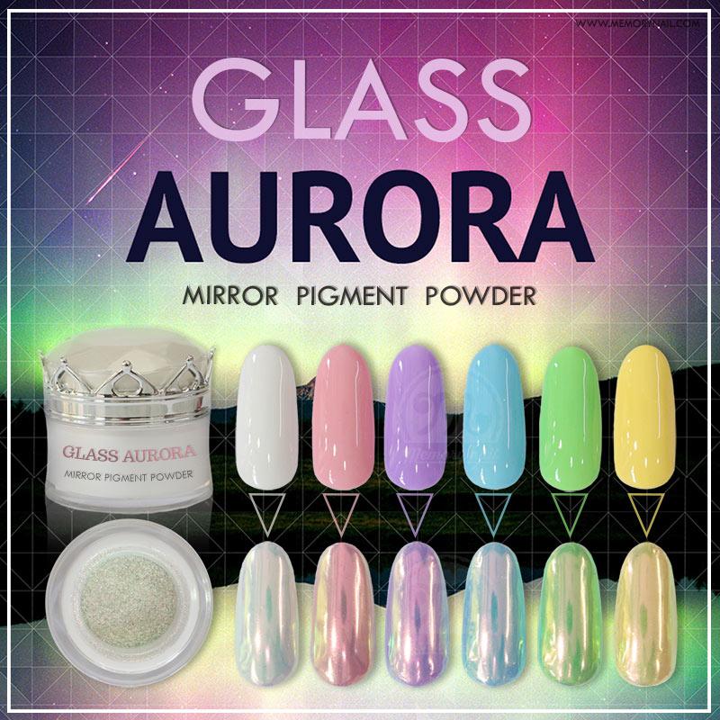 ผงกระจกสีรุ้งเงาพิเศษ GLASS AURORA Mirror Pigment Powder กระปุกใหญ่ 10 มิลลิกรัม