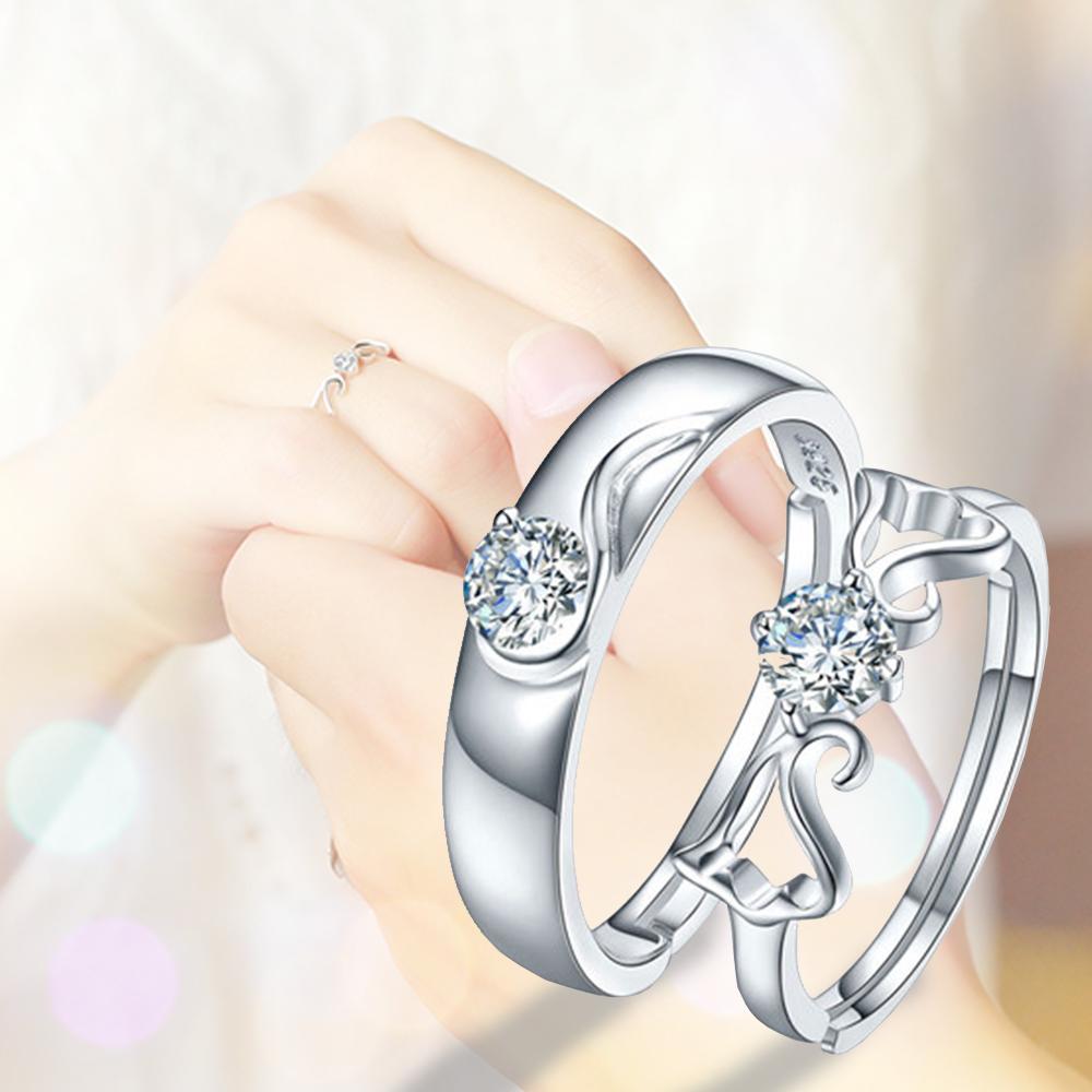 แหวนคู่รัก ลายหงส์ silver 92.5 GQL006 (1คู่)