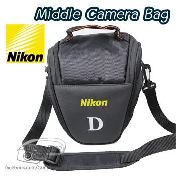 กระเป๋ากล้อง Nikon รุ่น Middle Nikon สำหรับ D90 D7100 D5300 D5200 D5100 D3200 D3100 ฯลฯ (Pre Order)