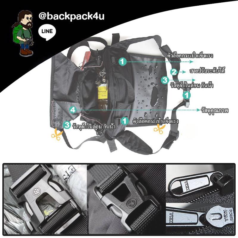กระเป๋า PENTAGRAM รุ่น A001 สุดเท่ห์ ของแท้ คาดเอว สะพายหน้า สะพายหลัง ปรับเปลี่ยนได้ตามสไตล์และกิจกรรมของคุณ ใส่ของเดินป่า ปีนเขา ขี่มอเตอร์ไวค์ เรียนหนังสือ หรือทำงาน ใช้ได้ทุกที่ ทุกเพศทุกวัย เนื้อผ้ากันน้ำ โดนใจแน่ ด้วยกระเป๋าใบกะทัดรัด แต่จุของได้เพี
