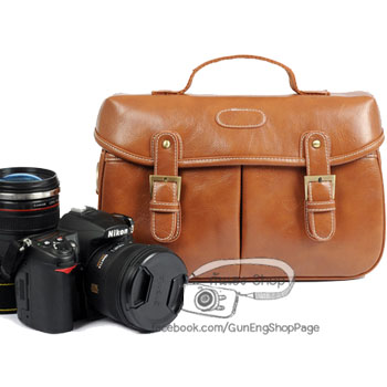 กระเป๋ากล้อง Trendy Brown Leather Bag (M)