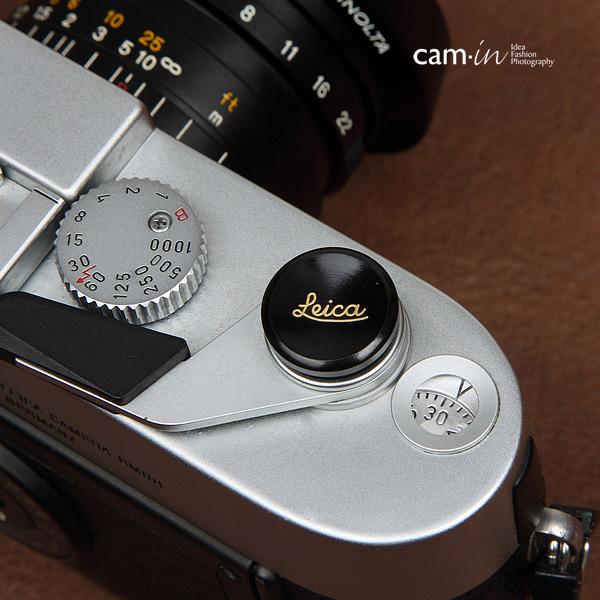 Soft Shutter Release Leica สีดำทอง ใช้กับ Fuji X10 X20 X100 XE-1 ฯลฯ ได้