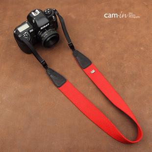 สายคล้องกล้อง cam-in Simple Red สีพื้นแดง