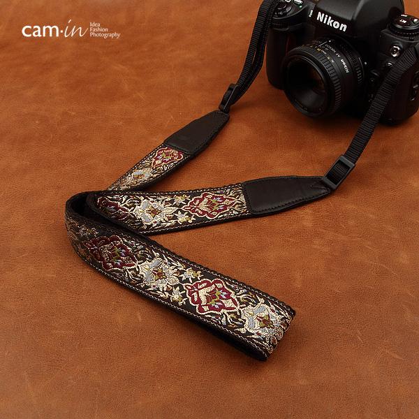 สายคล้องกล้องลายถักทอง cam-in Glorious