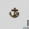 จี้โลหะ,ตัวห้อยซิป สีทองรมดำ รูปสมอเรือ