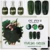 สีเจลทาเล็บ OU PIN ชุด3สี ชื่อโทนสี YOUQING GREEN พร้อมกรอบรูป เนื้อสีดี เข้มข้น คุณภาพเหนือราคา