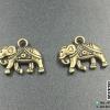 จี้โลหะ สีทองรมดำ ช้าง