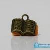 จี้วินเทจ โลหะ สีทองรมดำ รูปหนังสือ