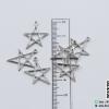 จี้โลหะ สไตล์มินิมอล ( minimal style ) รูปดาว สีนิเกิล