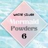 ผงเกร็ดนางเงือก Mermaid Powder #6 White Silver สีเหลือบขาวเงิน