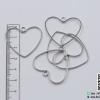 จี้โลหะ สไตล์มินิมอล ( minimal style ) รูปหัวใจ (ใหญ่) สีนิเกิล ขนาด 28*32 mm.