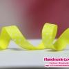 ริบบิ้นผ้ากรอสเกรน สีเหลืองอ่อน พิมพ์ลายจุด