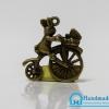 จี้โลหะ วินเทจ สีทองรมดำ รูปหมีปั่นจักรยาน