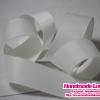 ริบบิ้นผ้า กรอสเกรน สีขาว ขนาด 25 mm. [สีพื้น] [สินค้าหมวดไว้ทุกข์]