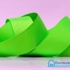 ริบบิ้นผ้า กรอสเกรน สีเขียวสะท้อนแสง ขนาด 25 มิล