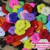 กระดุมดอกไม้ คละสี [แพ็ค 40 เม็ด]