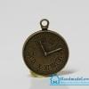 จี้โลหะ สีทองรมดำ รูปนาฬิกา